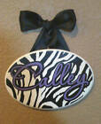 Zebra Print Name Plaque / Sign / Feather Boa
