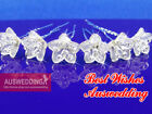 1x Wedding Bridal Crystal Flower Hair Twists Pins 2.5cm