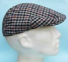 Flat Cap Chequered White Black Grey Orange Summer