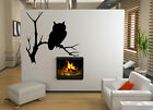 Enigmatic Owl vinyl stickers wall decorations mural decal high quality NEW UK