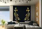 Flower Duo Amazing Double Wall Stickers Durable Room Decals Many colours NEW UK