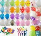 """12 x 12"""" HELIUM QUALITY PEARLISED LATEX BALLOONS, POLKA DOTS AND MIXES AVAILABLE"""