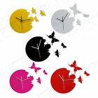 1 pcs New Art Design Wall Clock Clocks Butterfly Home Room Black Red White Color