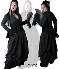 Vampire  Vintage Cocktail Long Dress Gothic Victorian  Prom 2 Sizes Black 1512