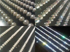 8 x 11cm Self Adhesive DIAMANTE Stick on STRIPS Gems Card Craft Making Diamonds