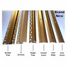 Carpet Strips Door Bars Metal Edgings Single Double Cover Gold or Silver NEW x 1