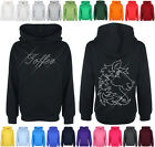 Personalised Diamante / Rhinestone Horse hoodie 7-13 yrs with Childs name (Gift)