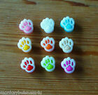 8 - Novelty Buttons - Paw - Animals - 10mm - Baby/Kid's - Knitting/Sewing/Cards