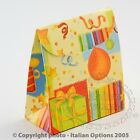 Childrens Sacchetto Satchel Wedding Gift Favour Boxes Multi Yellow PARTY Small