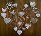 Hanging decoration. Silver/white/cream. Wedding/christmas tree. Shabby and chic