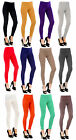 Womens Plain Fitted Full Length Stretch Leggings Black Grey Ladies New UK SM M/L