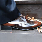 BROWN  METRO WING TYPE GENUINE BUFFALO LEATHER HANDMADE LOAFER/BEST MEN'S SHOES
