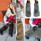 Внешний вид - Boot Cuff Fluffy Soft Furry Faux Fur Leg Warmers Boot Toppers Costume Cosplay OS