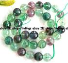 6mm 8mm 10mm 12mm 14mm round faceted natural multi-colored fluorite Beads 16""