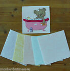 Mottled Card Blanks - Square - pastel - Invitations - Cards - Baby Shower