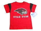 UTAH UTES KIDS TODDLERS RED WITH BLACK SHOULDER STRIPES T-SHIRT NEW