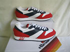 ELLESSE MENS WHITE/NAVY/RED  LACE UP RETRO SPORTS TRAINERS -117