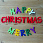 Felt Die Cuts - Happy/Merry Christmas - Sentiment - Applique - Cardmaking