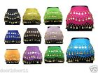 Belly Dance 3 Row Gold Coins Hip Scarf Skirt Belt Wrap In 10 Colour UK Seller