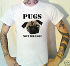 PUGS NOT DRUGS T-Shirt New.Original design!