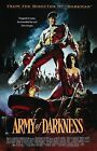 ARMY OF DARKNESS Movie Poster EVIL DEAD II Art Ash Necronomicon Horror