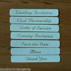 Banner - Wedding - gold on cream - Save the Date/Invitations/Civil Partnership