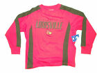 LOUISVILLE CARDINALS YOUTH RED & BLACK LONG SLEEVE DESIGNER T-SHIRT NEW
