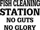 """Fish Cleaning Station Fishing Decal 3.75""""x5"""" choose color!   vinyl sticker"""