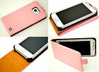 Pink Slim Genuine Leather Real Leather Case Cover for Samsung Galaxy S2 i9100