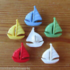 7 - Novelty Buttons - Sail Boat - Dolls - Baby & Kid's - Knitting/Sewing/Cards