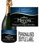 PERSONALISED BOTTLE LABEL FOR YOUR BEST MAN LOVELY GIFT IDEA ANY AGE BMBL`3
