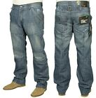 BRAND NEW MENS ENZO EZ109 MID STONE WASH JEANS REDUCED SALE PRICE £11.99