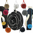 Ladies Womens Shoulderbag Wrist Purse Clutch Handbag Flower Rose Designer A8