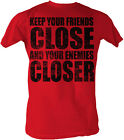 Godfather Keep Your Friends Close Red Adult T-Shirt