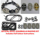NEW 2012 Diamante SKULL Shamballa Friendship Bracelet Making Kit + Instructions