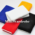 Wristband Cotton Sweatband Sport Runner Basketball Tennis Gym Black White Red