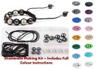 Clay Pave Crystal Shamballa Bracelet Making Kit inc Instructions & DISCO Beads