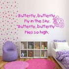 KID'S BUTTERFLY POEM CHILD'S WALL ART QUOTE STICKER DECAL MURAL STENCIL MURAL