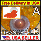 Orange 1LB Water Marbles Crystal Soil Gel Ball Plants Wedding Centerpiece Resale