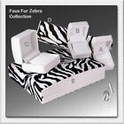 Faux Fur ZEBRA Gift Boxes for Earrings Ring Bracelet Necklace Pendant Watch Pen