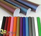 【500MM X 1520MM】ALL COLOUR 【Bubble Free】 Carbon Fibre Vinyl Wrap 3D Textured