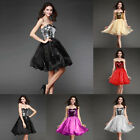 Sequined Wedding Formal Bridal Prom Cocktail Evening Dress Homecoming 3 Colors
