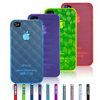 Ultra Thin 0.5mm Stylish Hard Case Cover For iPhone 4 4S Free Screen Protector