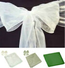 PACK OF 6  ORGANZA CHAIR COVER BOWS SASHES WEDDING DECORATION 22CM X 3M