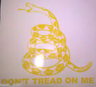 DON'T TREAD ON ME Gadsden Flag Rattlesnake Vinyl Decal color & Size Options