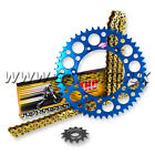 YAMAHA YZ85 YZ 85 2002 - 2012 THC CHAIN AND BLUE RENTHAL SPROCKET KIT