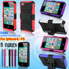 Heavy Duty Armor Shock Proof Stand Case Cover For Apple iPhone 4 4s
