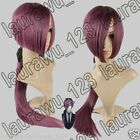 "36"" Long Heat Resistant Straight Burgundy Purple Red Cosplay Wig Free Shipping"