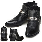 New Mens Fashion Ankle Steel Black Boots Shoes Novamall