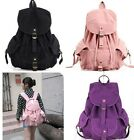 Woman's Canvas Backpacks School Bags Satchels Front Strap Closures Bag  New